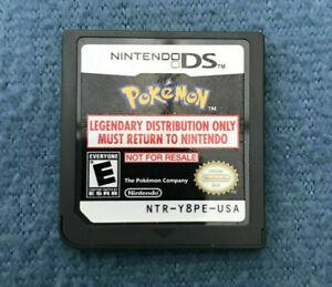 Pokemon Legendary Not for Resale Nintendo DS Cartridge NTR-Y8PE USA