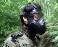 Military M50 Gas Mask CS Field Army Fan Riding Mask Full Face Gas Mask With Box