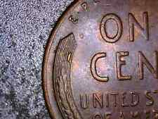 1958-P Lincoln Penny  with a Die Break on Wheat, and Handcrafted Wooden Box