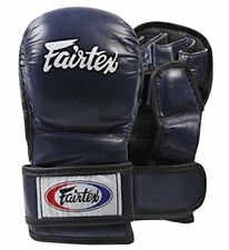 FAIRTEX FGV15 BLUE DOUBLE WRIST CLOSURE MARTIAL ARTS MMA BOXING SPARRING GLOVES