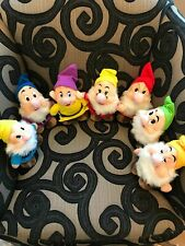Disney SEVEN DWARFS 7 Mini Plush  Stuffed Animals-Vintage Probably 1980s