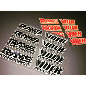 Black JDM Japan Rays Engineering VOLK Racing TE37 Wheel decals sticker 8pcs