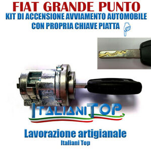 FIAT GRANDE PUNTO - KIT ACCENSIONE AVVIAMENTO CILINDRETTO BLOCCHETTO SERRATURA