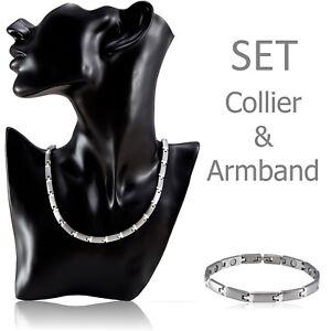 SET Kette / Collier & Armband Modell LARA Edelstahl 316L und Magneten