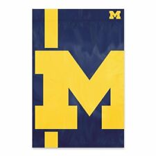 "Michigan Wolverines 2x3 Flag Banner Bold Logo Sleeved 2' x 3"" Banner USA SHIP"