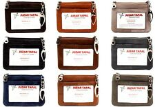 Women Coin Purse ID Holder Leather Wallets Pouch Card Cash Zip Bag Key Chain
