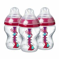 Tommee Tippee Decorated Advanced Anti-Colic Bottles, 260 ml