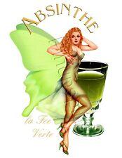 Green Fairy Absinthe La Fee Verte Pinup Girl Waterslide Decal Sticker S335