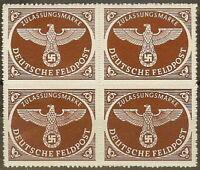 Stamp Germany Feldpost Mi 2 Sc MQ1 Block 1942 WW2 3rd Reich Wehrmacht Army MNH