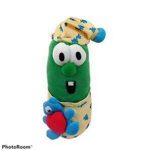 Veggie Tales Larry The Cucumber in Pajamas Singing Bedtime Lullaby Plush RARE