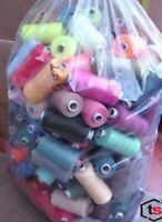 1000 yards POLYESTER THREAD - MIXED/ASSORTED PACK OF 25 THREADS