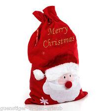 XXL Nikolausbeutel Weihnachtsbeutel Geschenkbeutel Weihnachten Verpackung rot