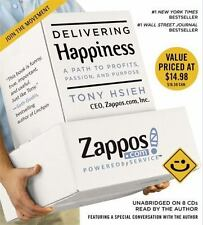 DELIVERING HAPPINESS unabridged audio book on CD by TONY HSIEH, CEO Zappos Inc