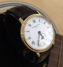 Señoras Genuino Frederique Constante FC200/235X1S25/6 Reloj De Cuero Suizo Oro