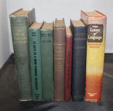 Vintage Writing Books English Books Set of 7 - FREE SHIPPING