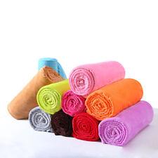 Super Soft Warm Solid Micro Plush Fleece Blanket Throw Rug Sofa Bedding FR