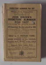1927 WISDEN CRICKETERS ALMANACK ORIGINAL PAPER WRAPPERS - GOOD CONDITION