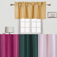 1 VALANCE SOLID BLACKOUT ROD POCKET FOAM LINED WINDOW CURTAIN TREATMENT TOPPER