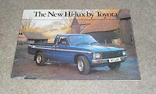 Toyota Hi-Lux Brochure 1979 - Hi Lux 4X2 Pick Up