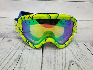 Anon Youth Kids Tracker Ski Snowboard Goggles Green w/ Amber Lens