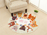 Teppich Rund Kinderteppich Kinderdecke Kinder Spielmatte Kinderzimmer Katzen