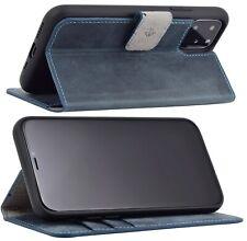 """Exclusive Leder Klapp Tasche Pebble-Blue Schutz Cover Bumper iPhone 11 Pro 5.8"""""""