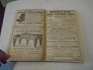 1856 Massachusetts Business Directory, History/Great Ads!