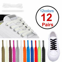 12pairs Flat Athletic Running Tennis Shoe Lace Hiking Shoelaces Sneaker Strings