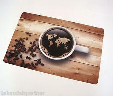 10x Tischset Kaffee Welt Platzdeckchen TISCHSETS PLATZ SET UNTERLAGE PLATZMATTEN