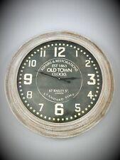 Wand Uhr Holzrahmen Antik Deko Vintage Old Town Clock Eyecatcher Geschenk