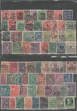 70 Briefmarken Sammlung Deutsches Reich gestempelt Germania Ziffern Posthorn DR