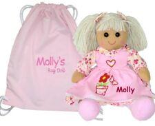 More details for personalised rag doll flower girl birthday baby christening baptism gift+bag