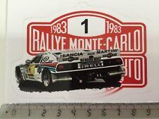 Sticker / Aufkleber, Rallye Monte Carlo Schild 1983, Lancia 037 Martini