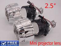 2.5 inch HID Bi-Xenon Projector Lens Kit Car Xenon Bulb Light Shroud H1 H4 H7