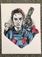 Edge Of Tomorrow Rita Emily Blunt Art Print Poster SciFi Mondo Movie Tyler Stout
