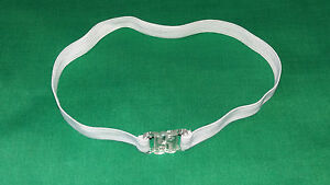 """Dicky Dickie Bow Tie BAND STRAP ELASTIC CLIP Adult Child xs/s/m/l/xl 8-20"""" WHITE"""