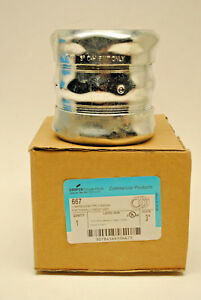 "Cooper Crouse-Hinds 667  3"" EMT Thinwall Steel Compression Coupling     NIB"