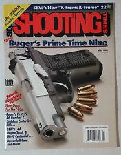 GUN AMMO HANDGUNS FIREARMS MAGAZINE SHOOTING 1990 MAY RUGER 9MM