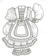 U pick your size, Bo Peep modern child Doll dress bonnet sewing Pattern