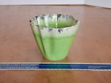"VINTAGE CORONET HULL MID CENTURY MODERN ART POTTERY GREEN VASE 4.25"""