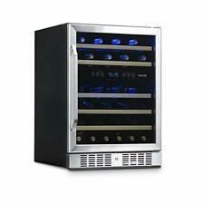 Wine Cooler with 46 Bottle Capacity - Built-In Stainless Standard Kickplate 00004000