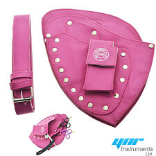 YNR Pink Hairdressing Pouch Hairdresser Scissors pouch Holster Case Wallet Bag