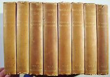 8 VOLUMES EVERSLEY EDITION 1881 CHARLES KINGSLEY Macmillan ALL LISTED