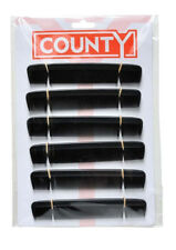 "12 x County Gents Mens 6"" Hair Dressing Styling Pocket Comb Black Hairdressers"