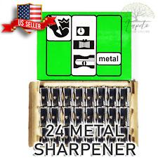 Lot Of 24 Officemate Metal Pencil Sharpener Metallic Silver Seller
