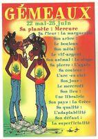 CPM - Carte postale RASTA signe du zodiac GEMEAUX - Postcard