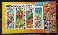 Singapore  1996  Sc # 759A   Olympics   s/s   MNH  OG   (40826)