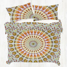 Yellow Black Mandala Handmade Mandala Quilt Cover Twin Size Pillow Covers Set