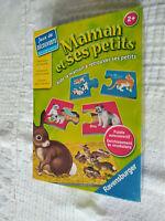 Jeux  Maman et ses petits .Puzzle éducatif  pour  les petits à partir de 2 ans .