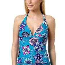 Hot Stuff Tankini Bikinioberteil 42 M Tank Top Bademode Damen Flower-Blau